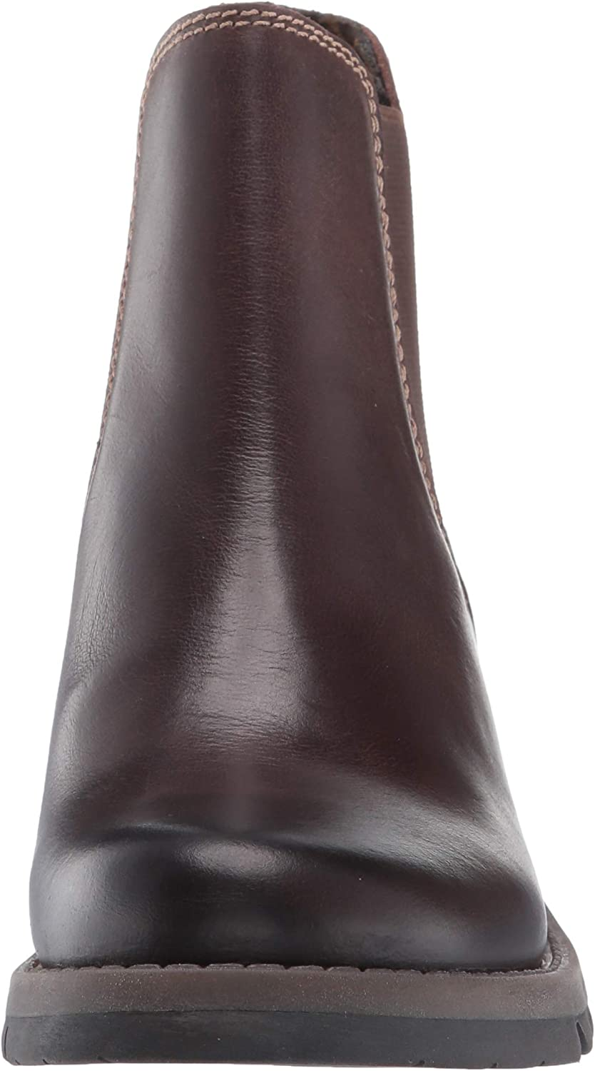 Fly London Salv, Bottes Chelsea Femme Marron Dark Brown 001
