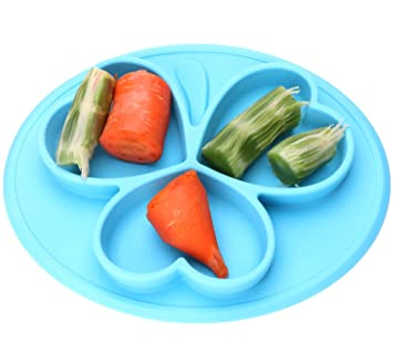BPA Free Mini Round One Piece Suction Silicone Placemat and Plate Dinnerware Baby Feeding Mat (  sc 1 st  Amazon.com & Amazon.com : BPA Free Mini Round One Piece Suction Silicone Placemat ...
