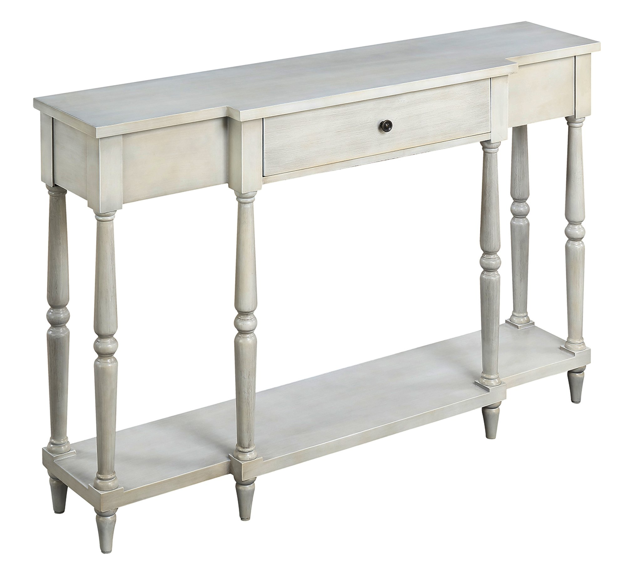 Convenience Concepts 227199AW Wyoming Antique Console Table, White