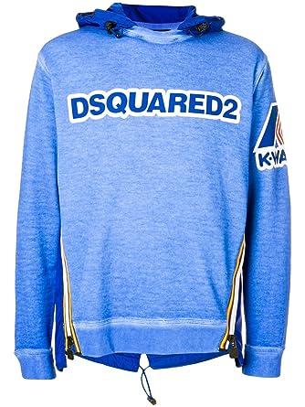 DSQUARED X K-WAY - Sudadera - para Hombre Azul Talla de marka L: Amazon.es: Ropa y accesorios