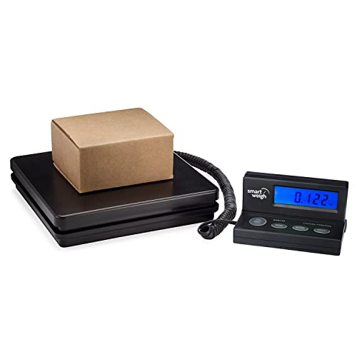 Smart Weigh EasyUse Digital Shipping and Postal Scale, Large Platform, 50 kg / 110 lbs Capacity, Parcel Scale with USB Cable and Extendable Cord