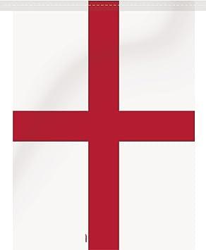 Unique Party - Guirnalda de Banderines - 9,75 m - Diseño de Inglaterra de St. Georges Cross (47778): Amazon.es: Juguetes y juegos