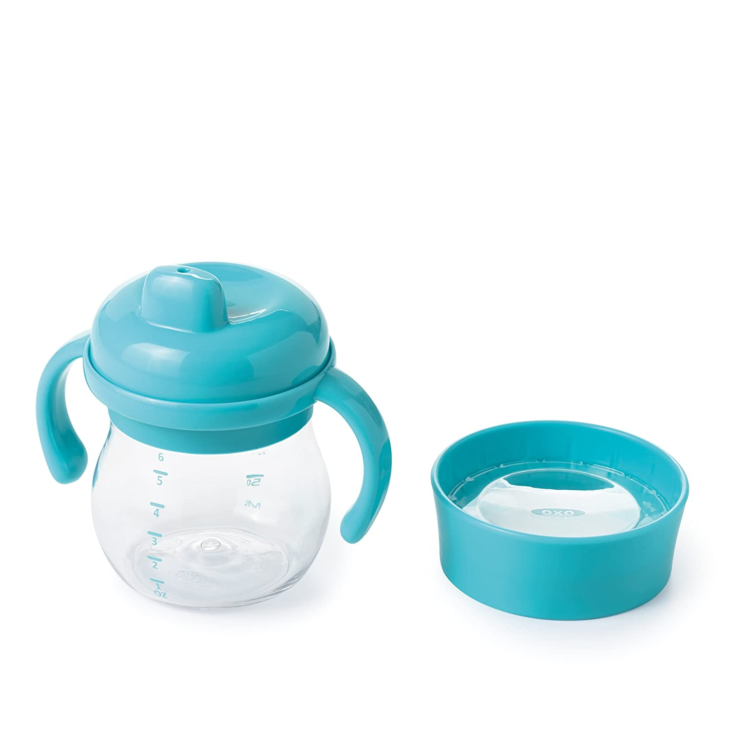 OXO Tot Transitions Sippy Cup Set, Aqua, 6 Ounce 61100500