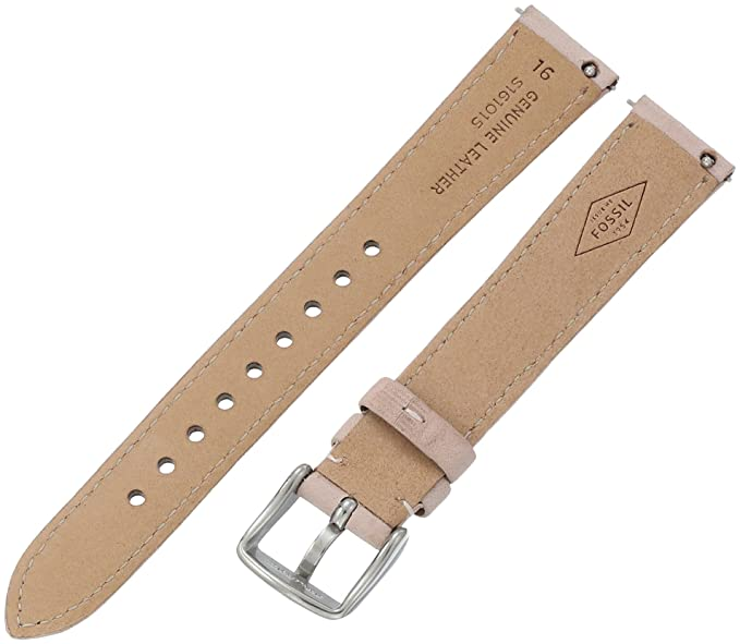 Amazon.com: Fossil Womens S161015 White Leather 16mm Watch Strap: Watches