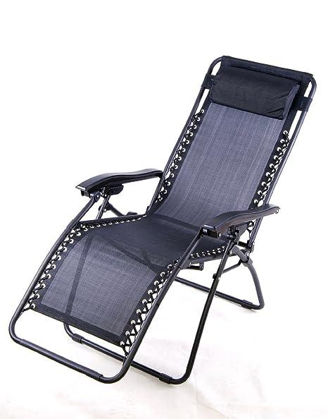 Outsunny Zero Gravity sillón reclinable salón Patio piscina silla