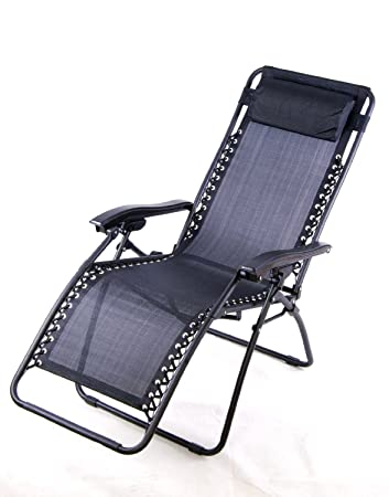 gravity reclining chair by varier zero recliner lounge patio pool black lawn