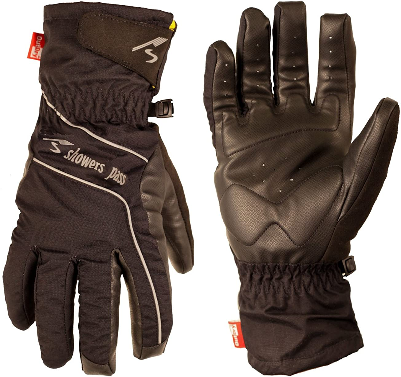 Grey Showers Pass Crosspoint Waterproof Knit Wool Cycling Gloves