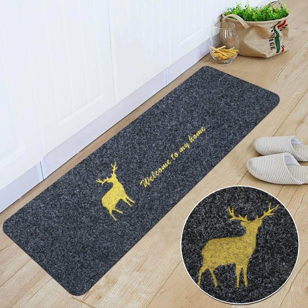 16x 24+ 16x 47.3, Brown 3AB 2 Piece Non Slip Kitchen Mat Waterproof Oil Proof Door Mat Home Floor Mats Easy to Clean Kitchen Rugs