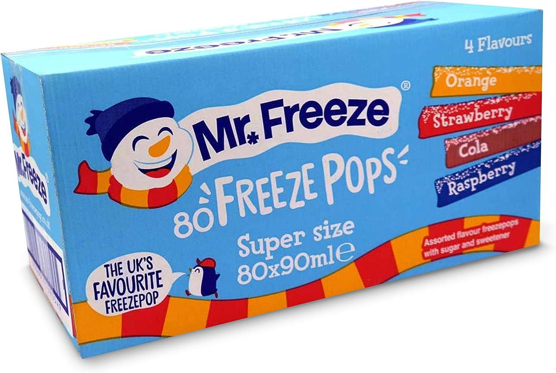 Mr. Freeze Super Size Freezepops 80 x 90ml (Pack of 80 x 90ml): Amazon.es: Alimentación y bebidas