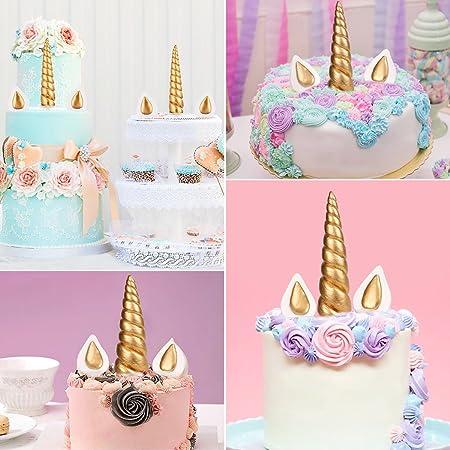 Luter Kuchen Topper 5 Stuck Handarbeit Gold Einhorn Geburtstag Cake