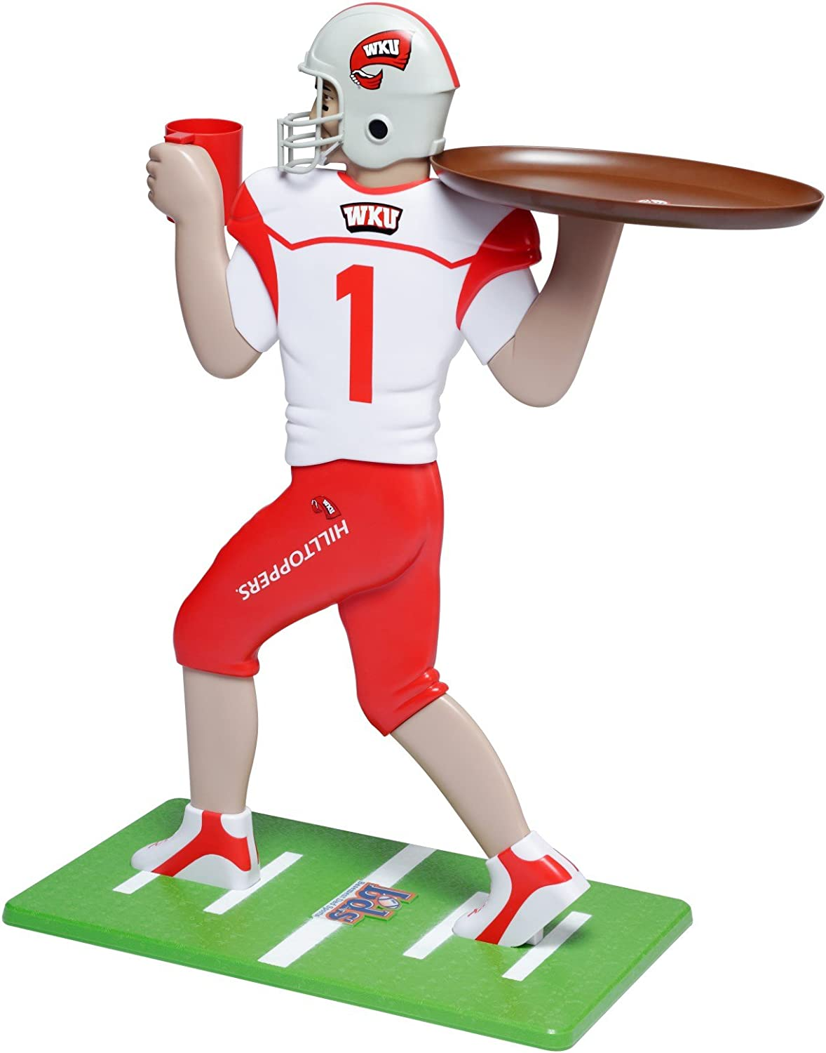 36-Inch//Tall Red Basic Fun NCAA Western Kentucky Hilltoppers My Wingman Accent Table