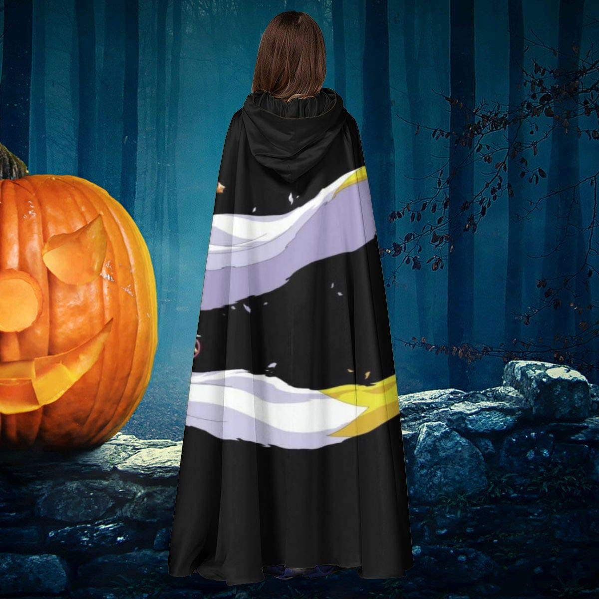 NULLYTG Carcassonne Power To The Meeple - Capa de Disfraz de Bruja con Capucha para Halloween: Amazon.es: Productos para mascotas