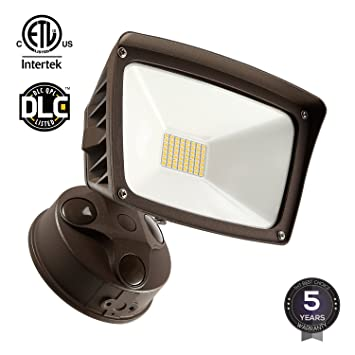 dusktodawn led outdoor flood light photocell included 3400lm ultra