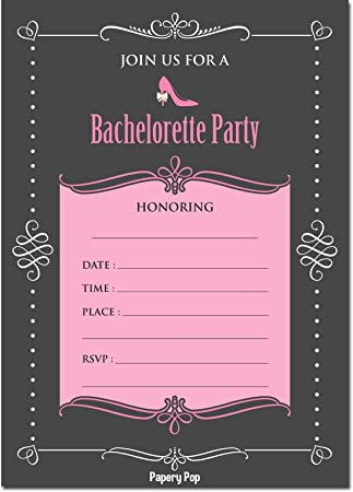 amazon com bachelorette party invitations with envelopes 15 count
