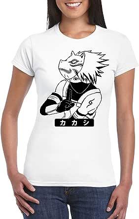 White Female Gildan Short Sleeve T-Shirt - Kakashi/Name – Japanese design