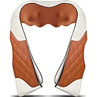 Neck Massager with Heat, Deep Kneading Back Massager, 3D Massage for Back Neck Shoulder Waist and Foot, Shiatsu Electric Neck Shoulder Back Massager Use at Home Office and Car, Christmas Gifts