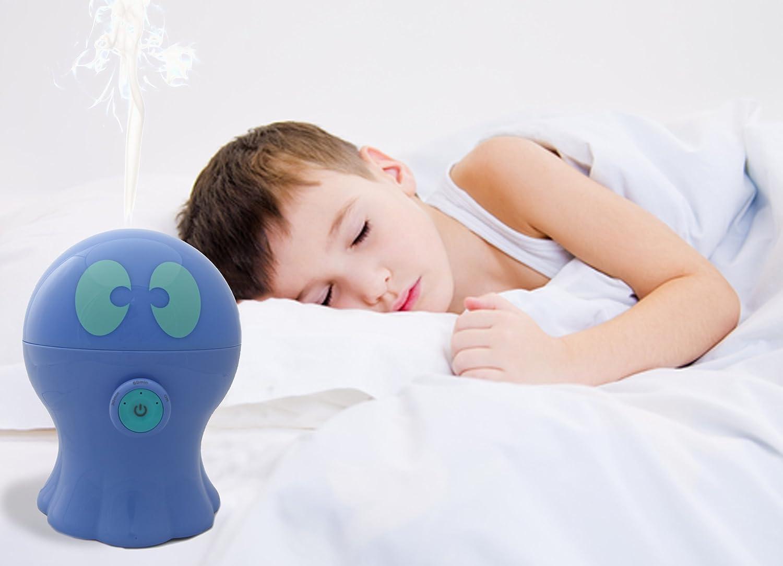 Aromaterapia Camera Da Letto, Durata 6h Azzurro 3 Colori Disponibili Timer Luce Notturna Per Bambini MARLIN Diffusore Di Aromi Ed Oli Essenziali Ad Ultrasuoni Autospegnimento Luce LED 300 Ml