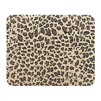 Westeng Alfombrilla de Ratón Diseño de Leopardo Mouse Pad Accesorios para el Mouse Cojín Alfombrilla Gaming con Reposamuñecas Size 23 * 19cm (Marrón)