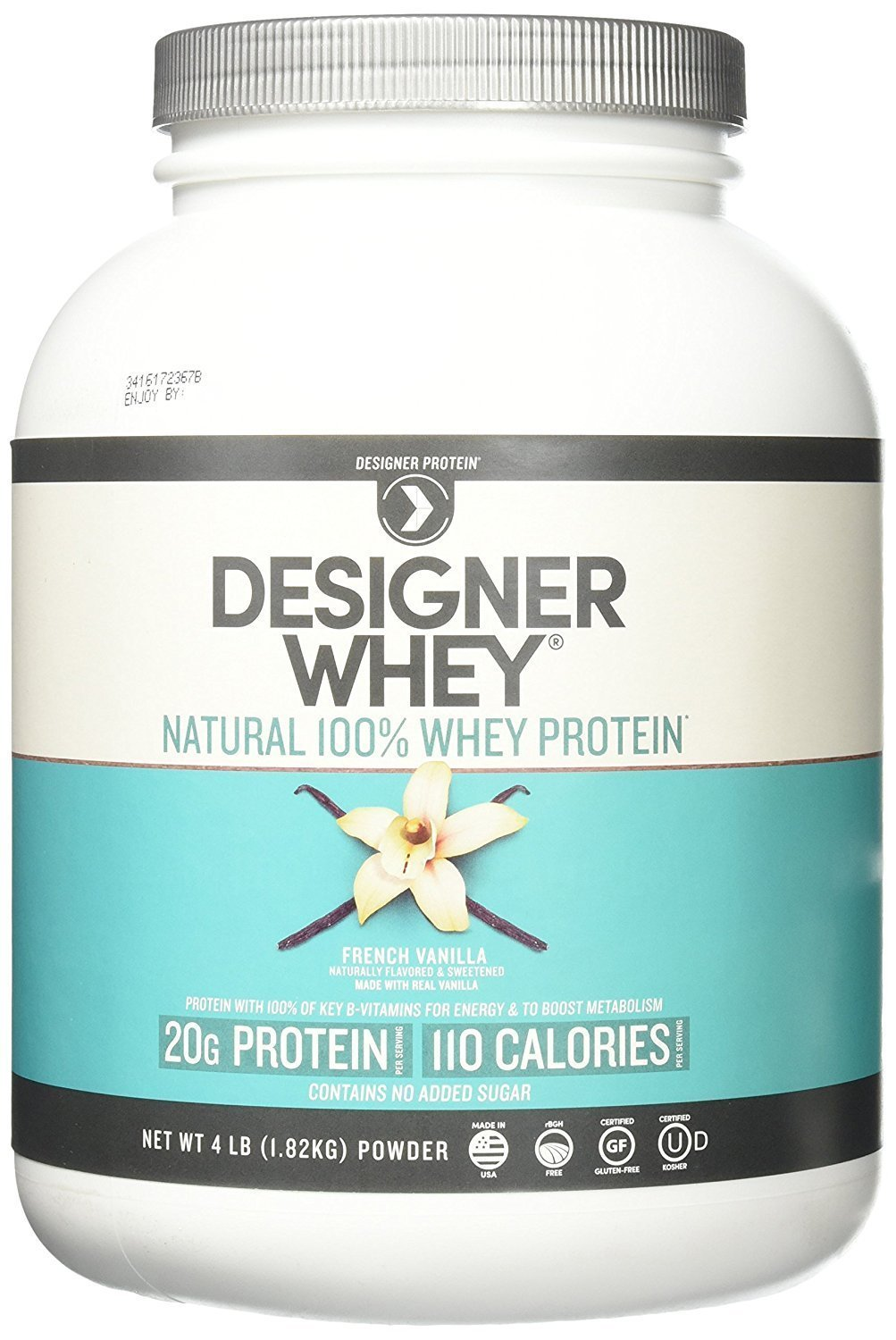 Designer Whey Protein Powder French Vanilla – 4 lbs