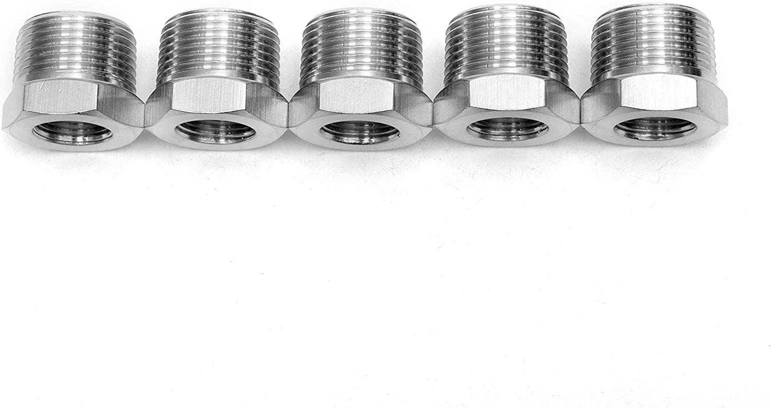 Pack of 5 LTWFITTING Bar Production Stainless Steel 316 Pipe Hex Bushing Reducer Fittings 3//4 Male x 3//8 Female NPT Fuel Water Boat