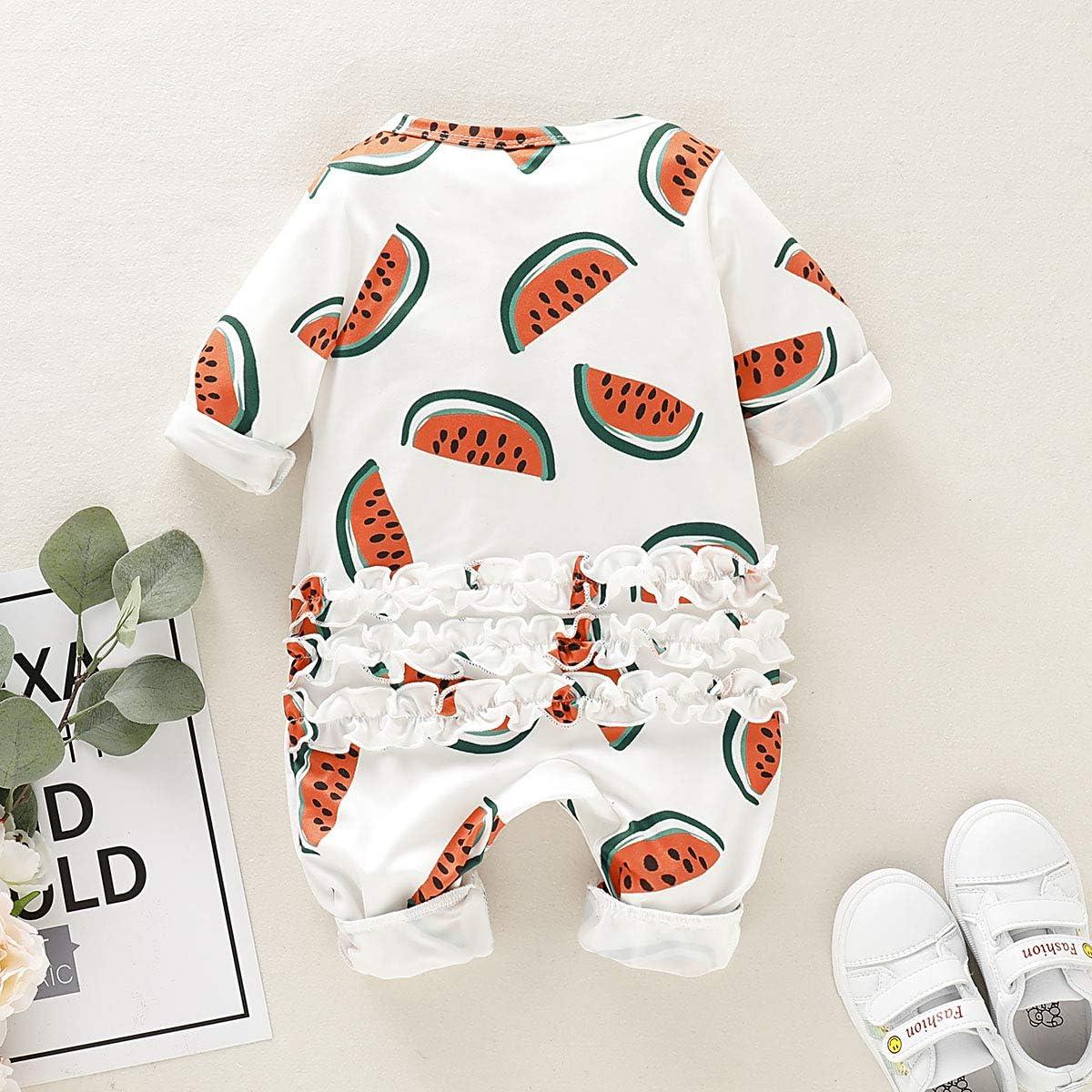 Newborn Infant Baby Unisex Clothes Round Neck Long Sleeve Romper Cotton Jumpsuit