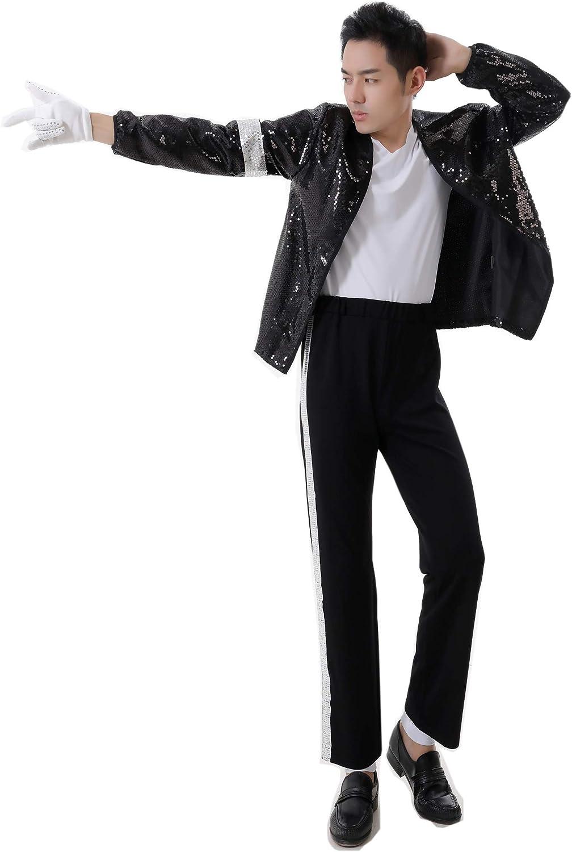 gl/änzende Punk-Konzerthandschuhe Shuanghao Halloween Cosplay Suitable for fans of Michael Jackson Billie Jean Michael Jackson handgefertigte