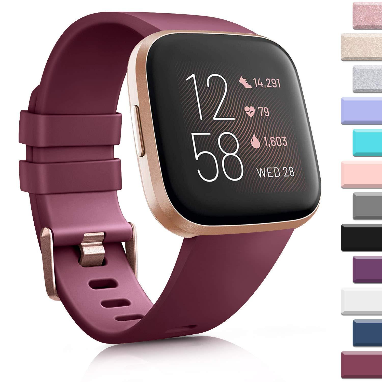 AK Sports Bands Compatible for Fitbit Versa/Versa 2/Versa SE, Soft Multi-Colors Replacement Wristbands for Fitbit Versa Lite Smart Watch Women Men
