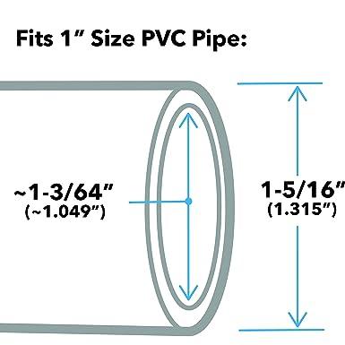 Pack of 10 1.05 ID FORMUFIT F034ECO-OR-10 3//4 Furniture Grade External Coupling in Orange PVC