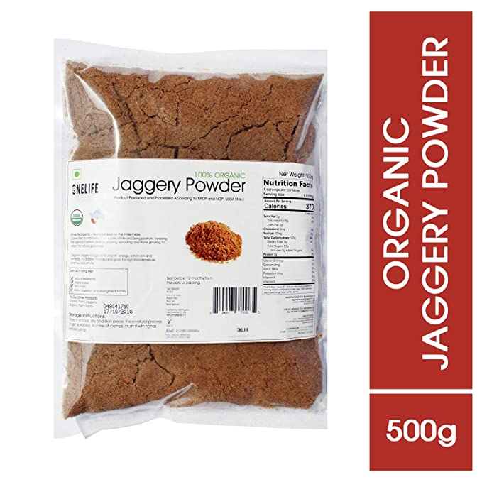 One Life Organic Certified Sugarcane Jaggery Powder and Healthy Sugar  Substitute-Natural Sweetener (500 g)
