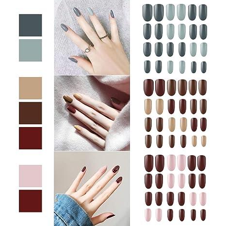 72 piezas de uñas postizas fijadas, cubierta de Segbeauty ...
