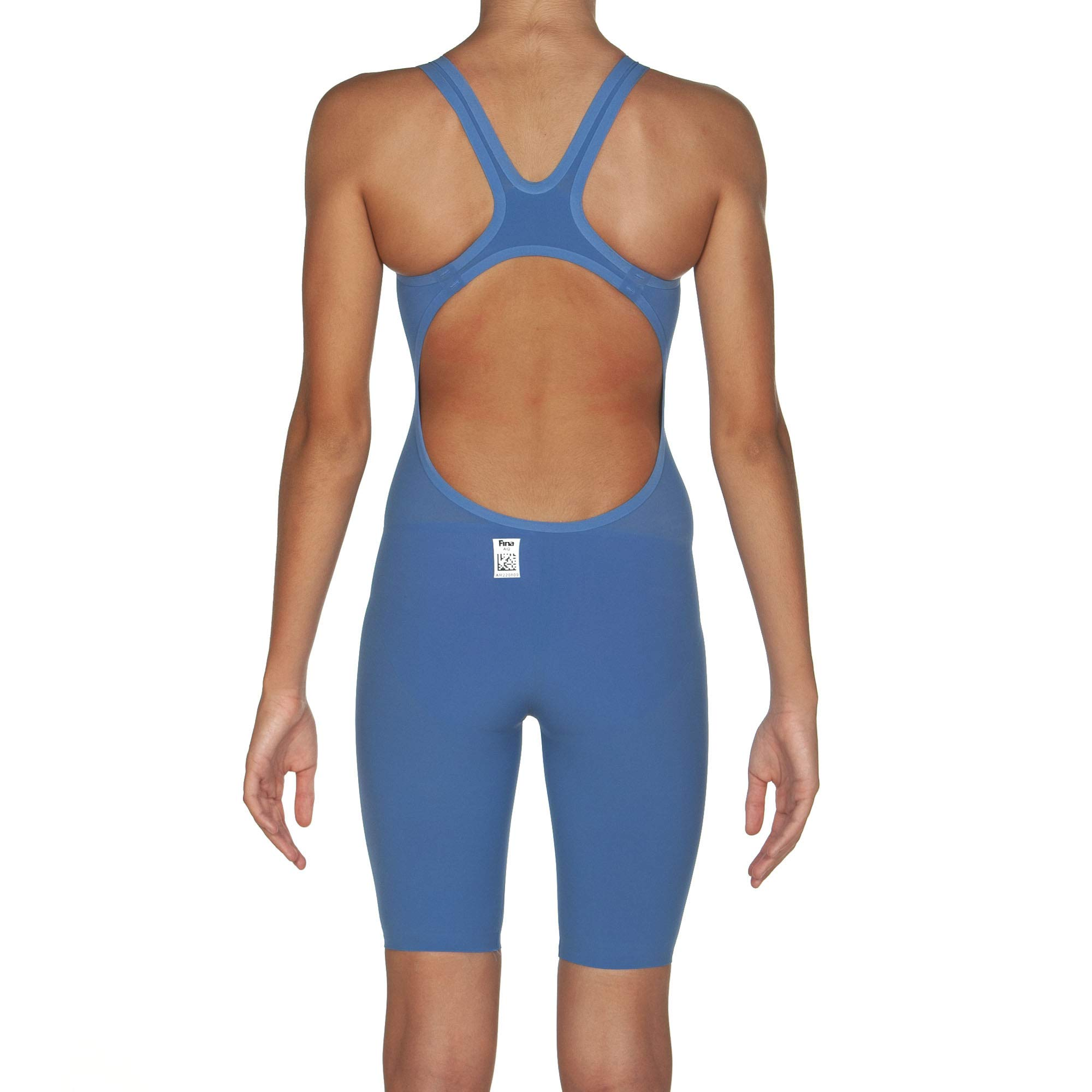 Arena Powerskin R-Evo One - Open Back, Blue/Powder Pink, 22