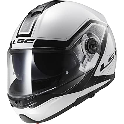 LS2 Helmets Strobe Civik Modular Motorcycle Helmet with Sunshield (White, XX-Large)