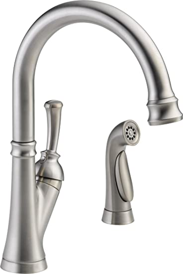 Delta Faucet 11949-SS-DST Savile, Single Handle Kitchen Faucet ...