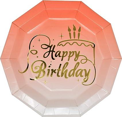 Amazon.com: Platos de fiesta de cumpleaños de 50 unidades ...