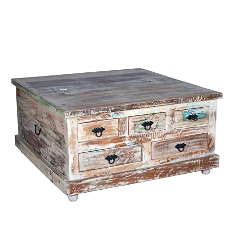 Lift Top Chest Coffee Table 6