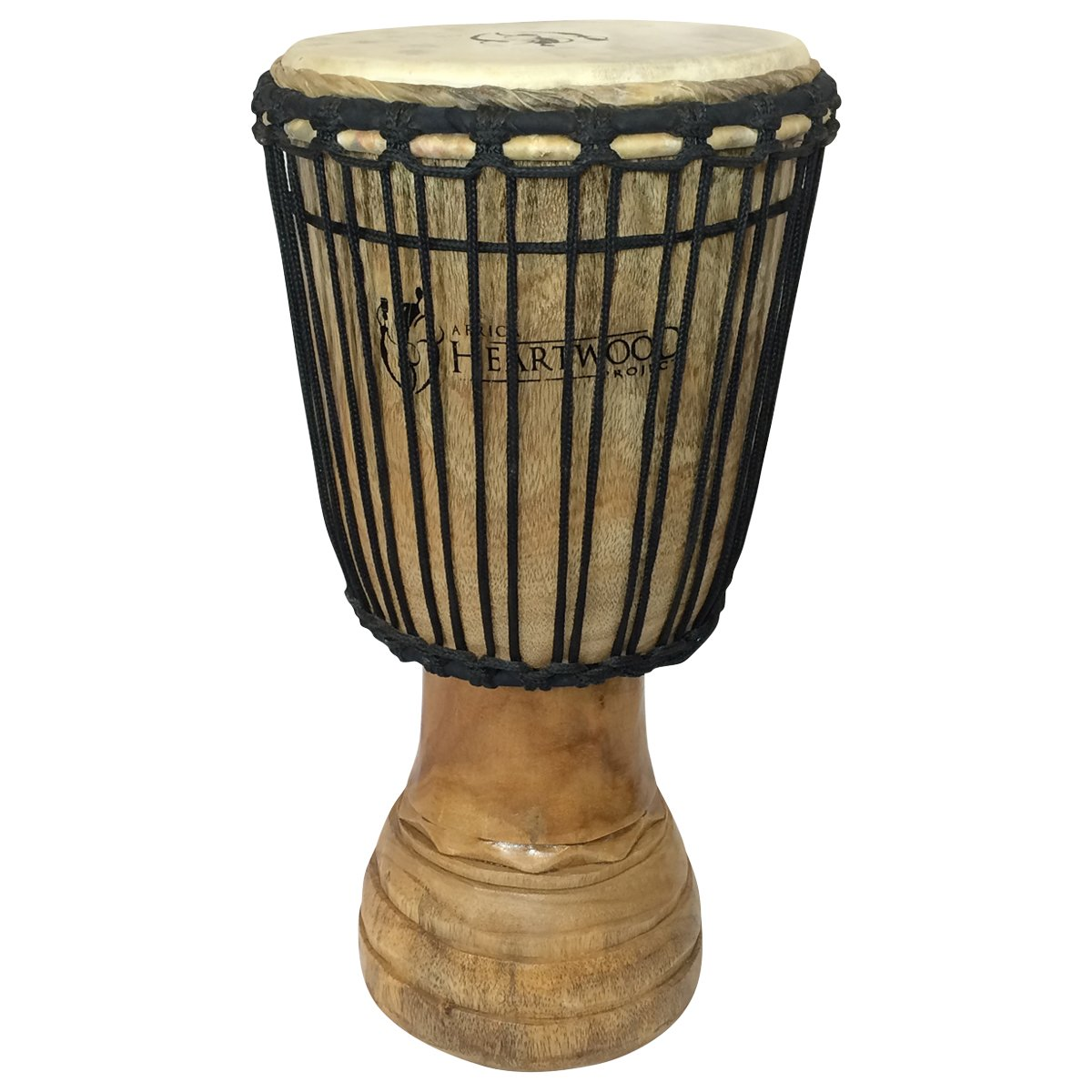 Hand-carved Classical Heartwood Djembe Drum from Africa - 10''x20''