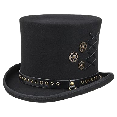 507adbe3a22 Amazon.com: Conner Hats Men's Steampunk Top Hat: Clothing