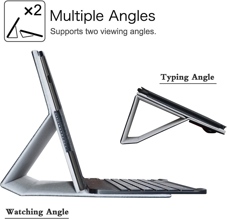 LiuShan D/étachable Clavier Bluetooth PU Cuir Support Multi Angles Housse Coque /Étui Couverture pour 10.1 ASUS ZenPad 10 Z301MFL Z301ML Z301M Andriod Tablet,Bleu Z301MF