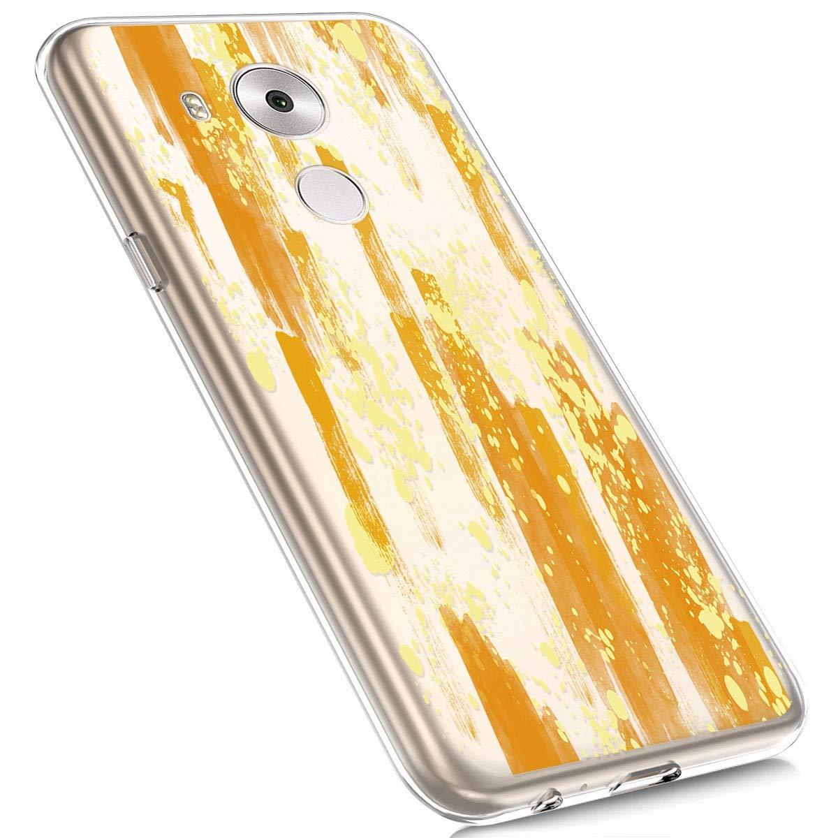 MoreChioce Compatible con Huawei Mate 8,Slim Shock Absorption Silicona Suave Volver Colorido Patr/ón Alivio Transparente Funda Protectora de Parachoques de Silicona Funda para Huawei Mate 8, #01