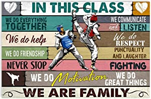 in This Class We Do Everything Together Taekwondo Print Poster Wall Art Home Decor Bedroom Living Room School Office Classroom 36x24 Inches