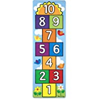 "Melissa & Doug Hop and Count Hopscotch Rug, Multi Color (78.5"" x 26.5"")"
