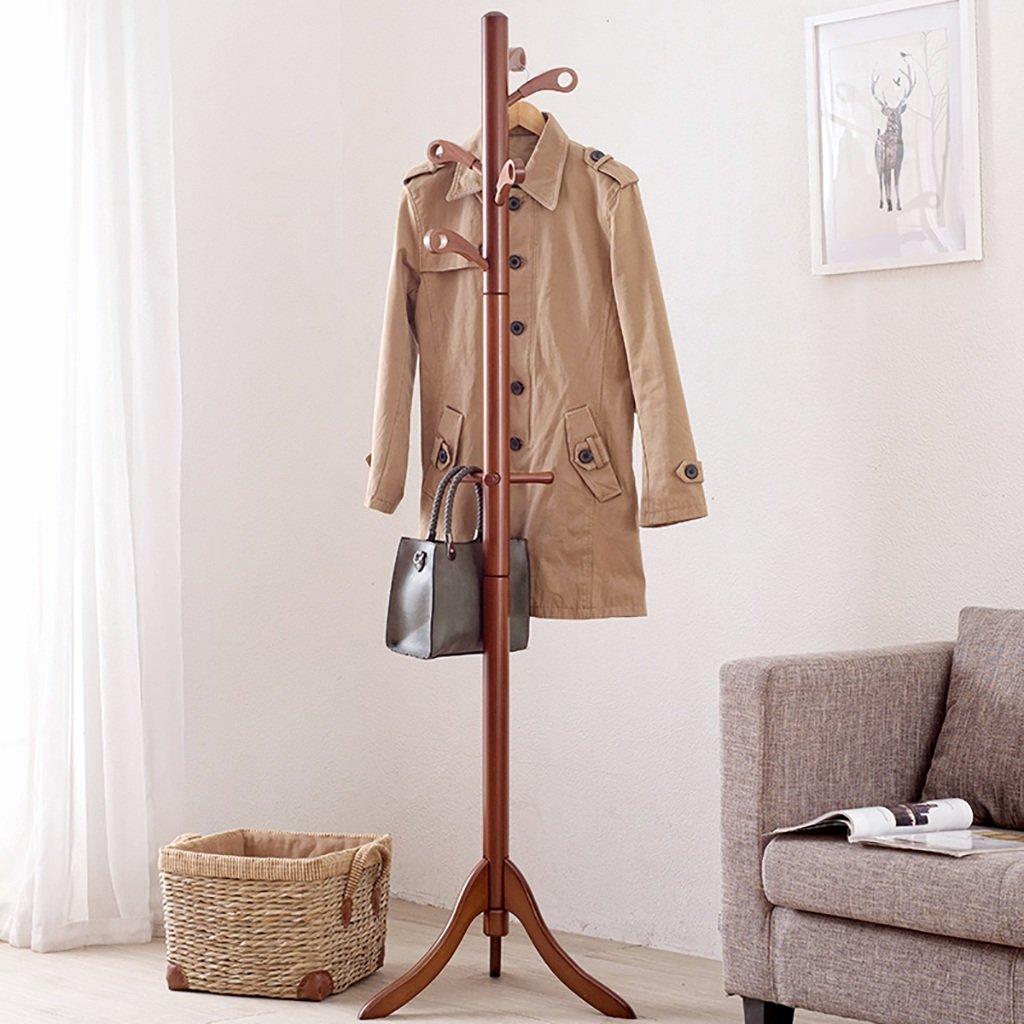 C Coat Rack Solid Wooden Clothes Rack Floor Style Home Bedroom Coat Rack Living Room Creative Triangle Coat Rack