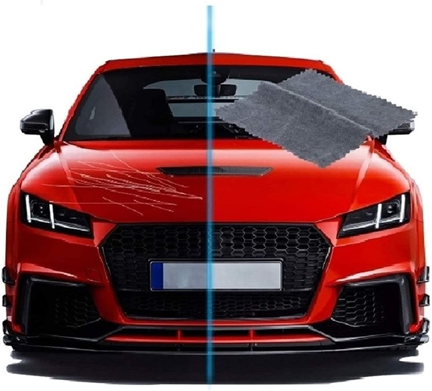 Nanomagic Cloth For Car Paint Scratch Repair,Easy to repair small and medium scratched car paint water spots on Surface,2pcs Nano Magic Cloth-Multi-Purpose Car Scratch Removal Cloth