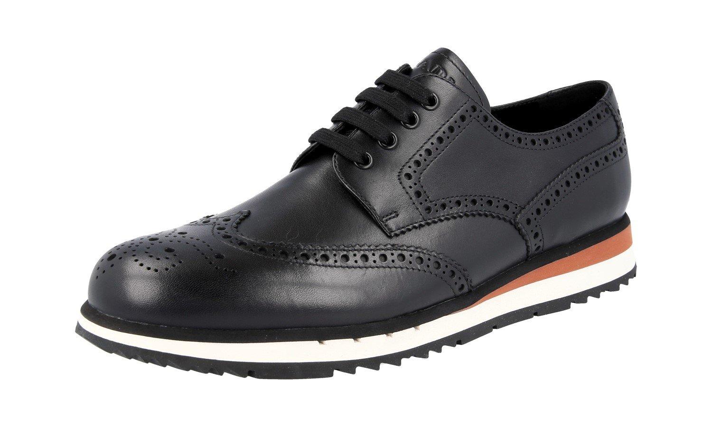 Prada Men's 4E2645 Black Full Brogue Leather Business Shoes EU 10 (44)/US 11