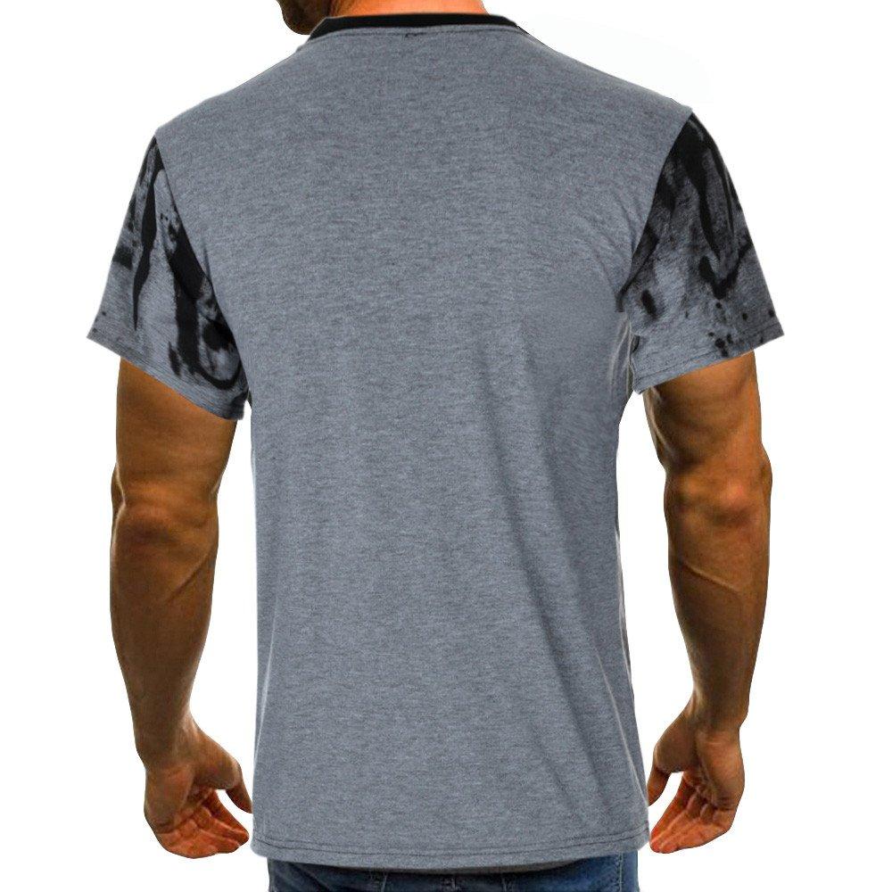 Rambling New Men Tee Slim Fit Short/Long Sleeve Muscle Casual Tops Blouse Shirts by Rambling-Men's Outwear (Image #2)