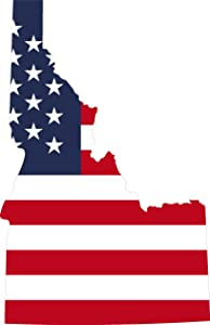 State Flag Inside Idaho 4x6.6 inches Sticker Decal die Cut Vinyl - Made and Shipped in USA