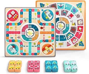 Gorei Flying Chess Puzzle Toy Juego De Mesa De Doble Cara para Niños Sala De Juegos Estrategia De Fiesta Juegos De Viaje Regalo para Niños Niñas: Amazon.es: Juguetes y juegos