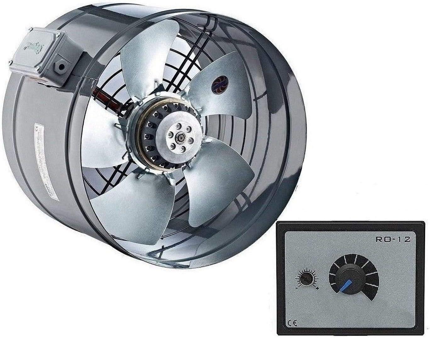 300mm Industrial Tubo Ventilador con 500Watt Regulador de velocidad Canal Ventiladores axial Extraccion Extractores Extractor Helicoidal Helicoidales