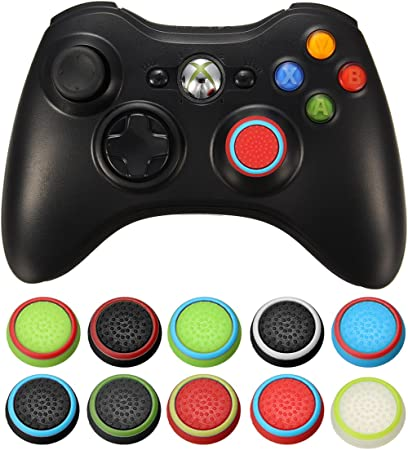 GOZAR Caucho Silicona Stick Joystick Cap Stick Cubrir Apretones De Ps4 para Ps3 para Xbox Uno para Xbox 360 Controlador Inalámbrico-Blanco + Verde: Amazon.es: Hogar