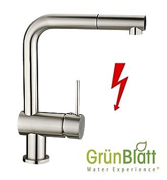 niederdruck küchenarmatur herausziehbar geschirrbrause küche ... - Wasserhahn Küche Niederdruck